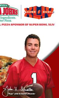 Papa John's Proud Sponsor of Super Bowl XLIV